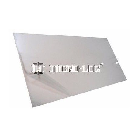Placa rectangular transparente VIVAK, 120 x 1 x 240 mm.