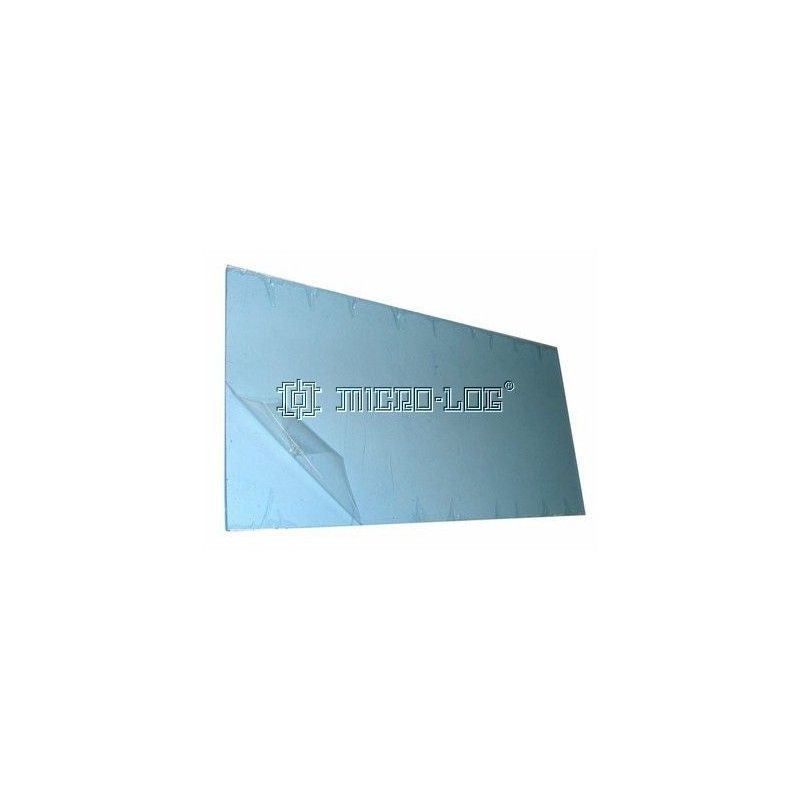 Placa rectangular transparente AXPET, 120 x 2 x 240 mm