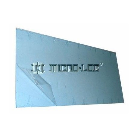 Placa rectangular transparente AXPET, 120 x 2 x 240 mm.