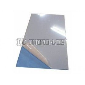Placa rectangular transparente AXPET, 120 x 3 x 240 mm.