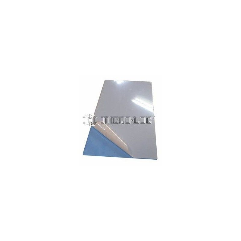Placa rectangular transparente AXPET, 120 x 3 x 240 mm