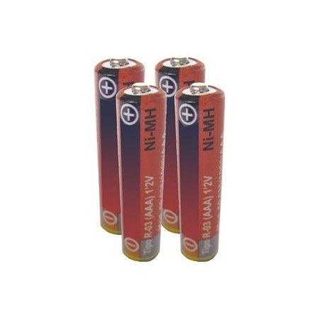 4 Pilas alcalinas R3 1,5V. AAA 1000 mA.