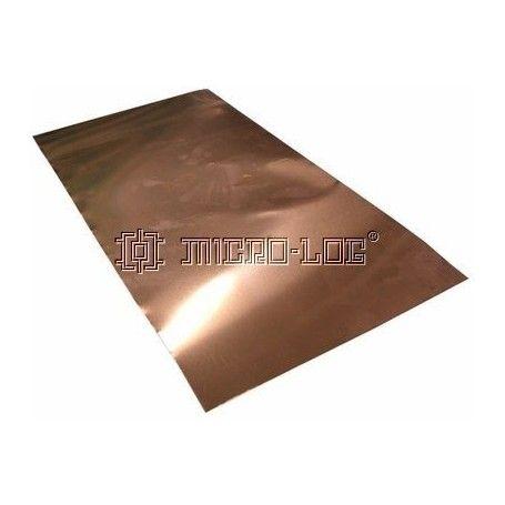 Lámina de cobre (24 x 12 cm.)