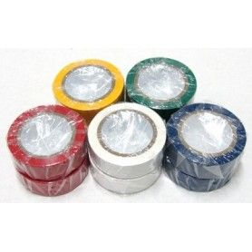 10 Rollos de cinta aislante de 5 colores