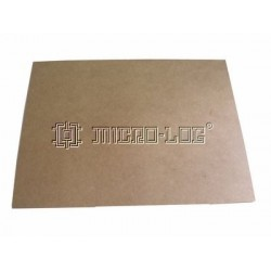 Tablero prensado DM de 400x300x5 mm.