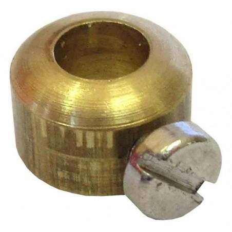 Casquillo latón con tornillo ejes 4mm