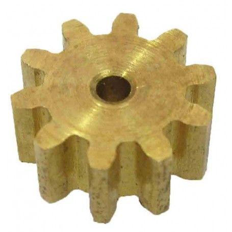 Piñón latón módulo 1, ejes 2 mm.