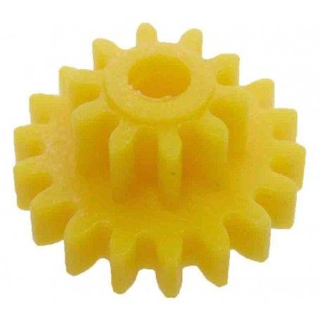 Engrane con piñón, 18/10 dientes, módulo 0,75