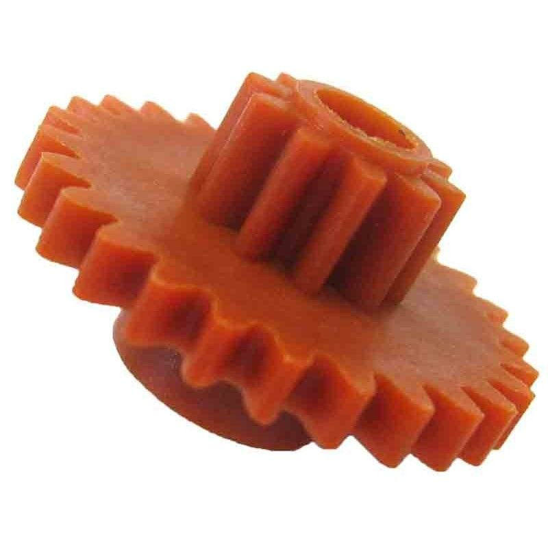 Engrane con piñón, 26/10 dientes, módulo 0,75