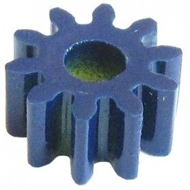 Piñón plástico módulo 1, ejes 4 mm.