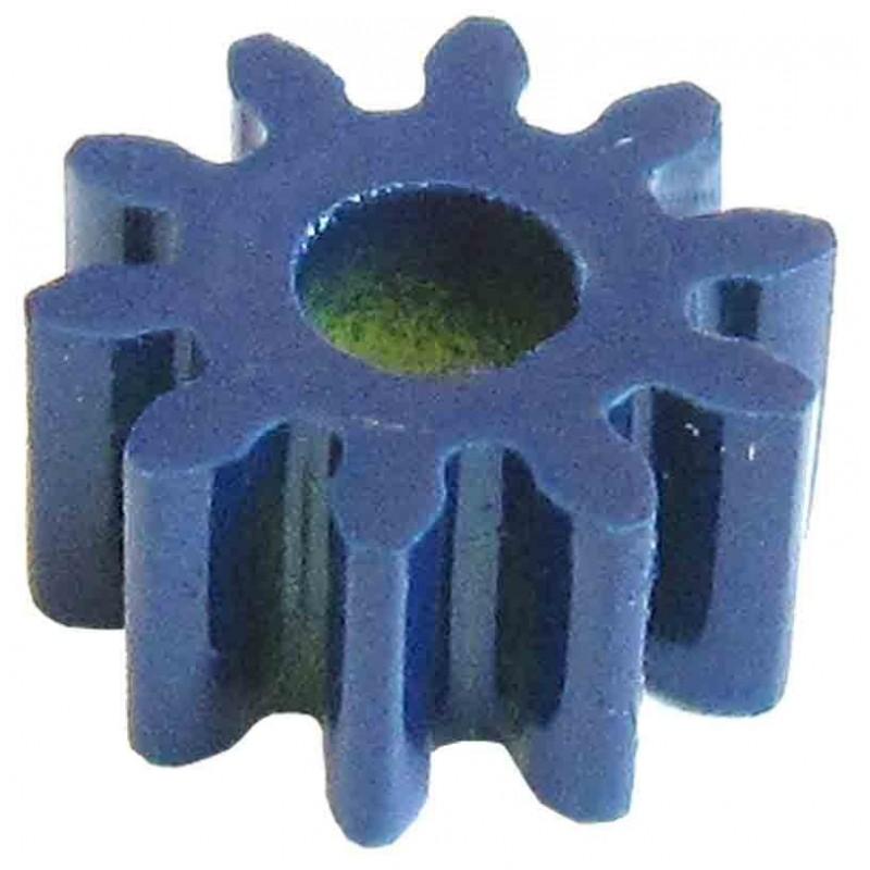 10 Piñones plástico módulo 1, ejes 4 mm.