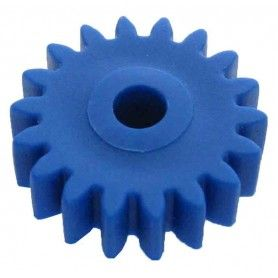 Engrane 18 dientes, módulo 1, ejes 4 mm.