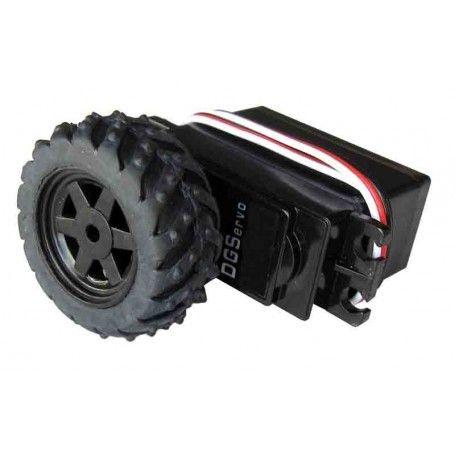 Servomotor 360º + rueda caucho