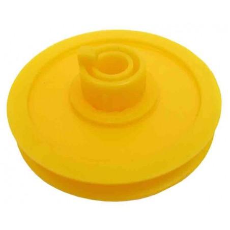 50 Poleas de plástico D ext. 33 mm. ejes 4 mm.