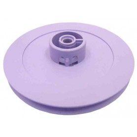 Polea de plástico D útil 54 mm. ejes 4 mm