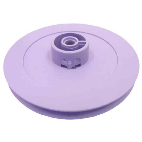 10 Poleas de plástico D útil 54 mm. ejes 4 mm.