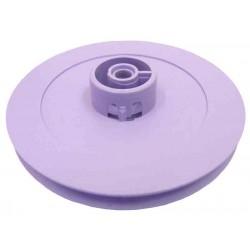 50 Poleas de plástico D útil 54 mm. ejes 4 mm.