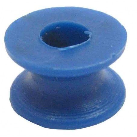 Polea de plástico D útil 6 mm. ejes 4 mm.