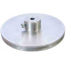 Polea de aluminio D útil 56 mm. ejes 4 mm.