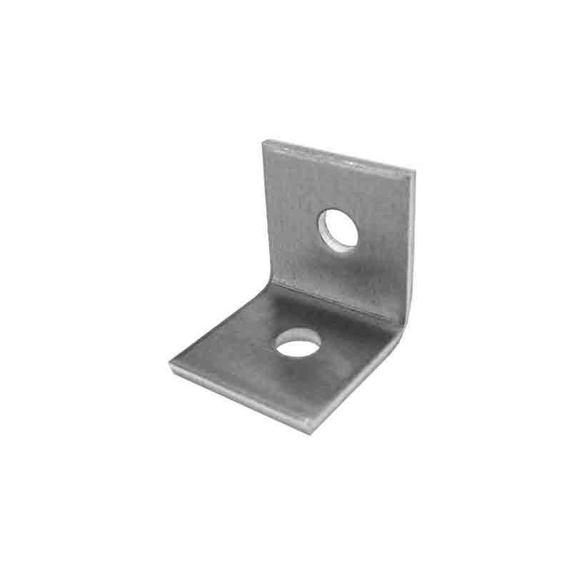 Escuadra aluminio 1+1 perforaciones