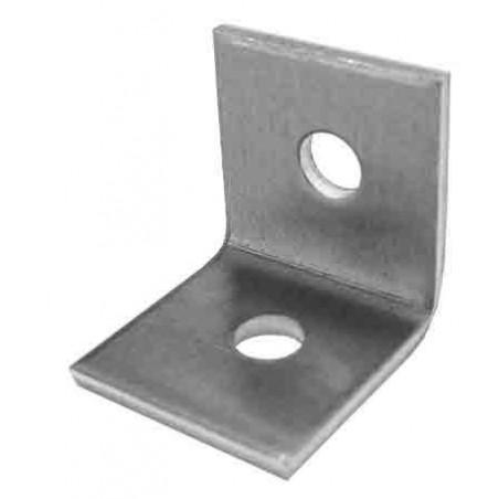 10 Escuadras aluminio 1+1 perforaciones