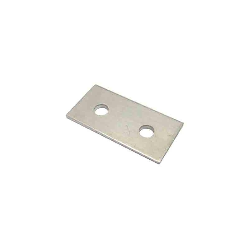 Perfil aluminio 2 agujeros