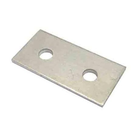 Perfil aluminio 2 perforaciones