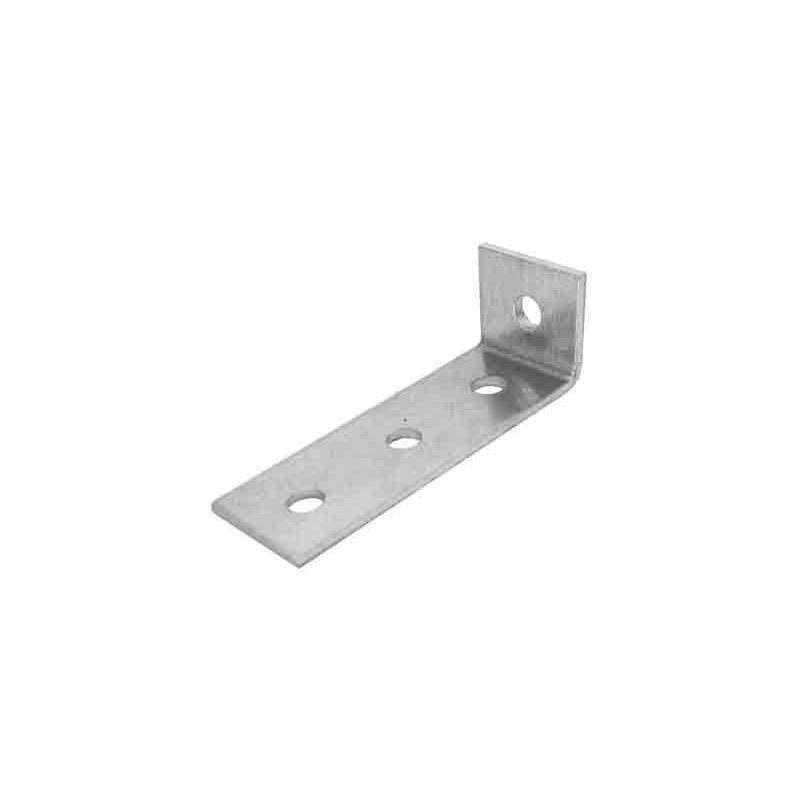 Escuadra aluminio 1+3 perforaciones