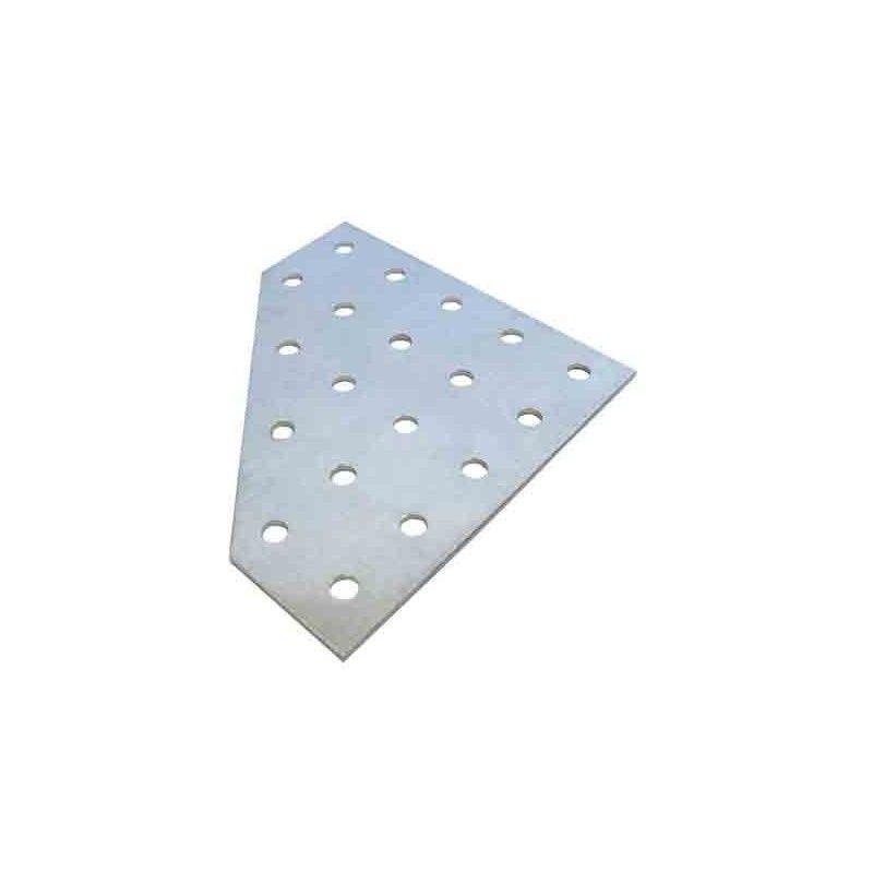Perfil aluminio cuadrado con solapa