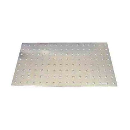 Placa aluminio perforado 500x120x1.5mm