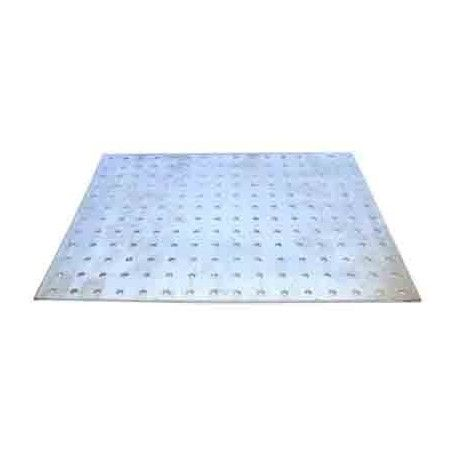 Plancha de aluminio perforado 500x180x1.5mm