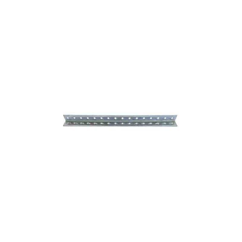 Perfil aluminio perforado en L 500x15x15x1,5 mm