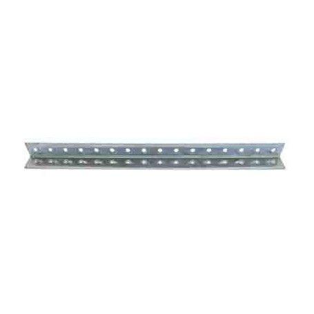Perfil aluminio perforado en L 500x15x15x1,5 mm.