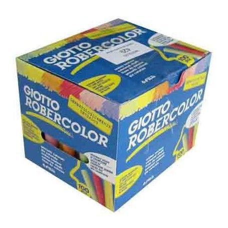 100 Tizas de colores para pizarra