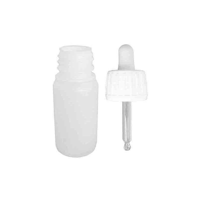 Botellita plástico 55 cc, con tapón cuentagotas