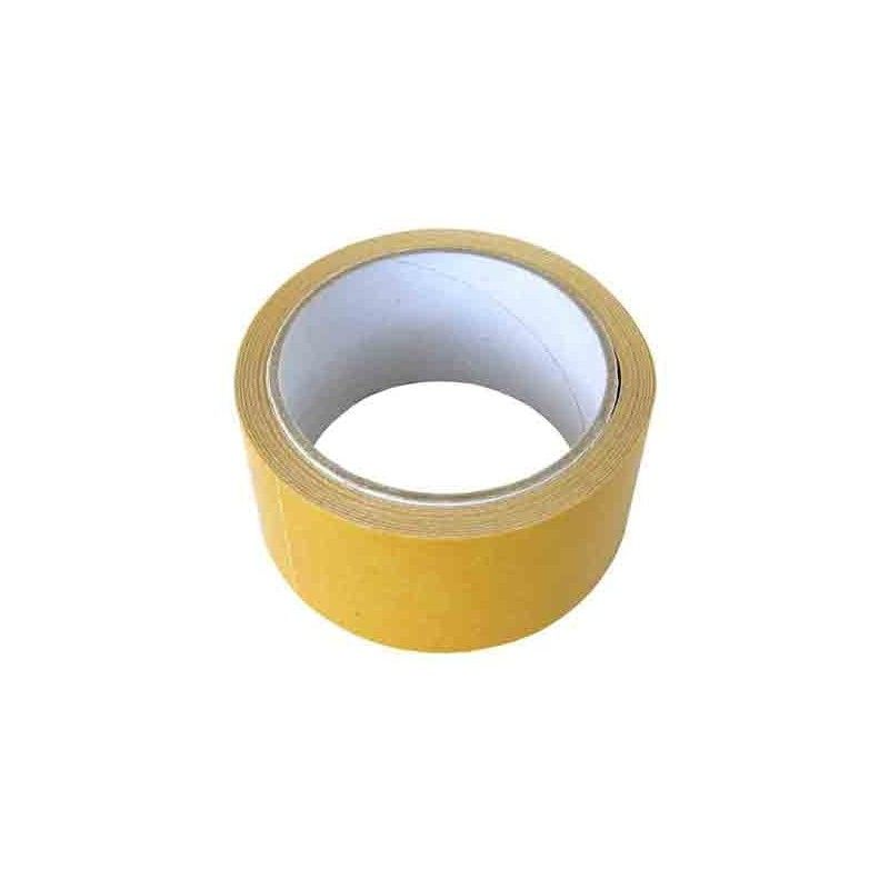 cinta adhesiva por ambas caras, de 50 mm.
