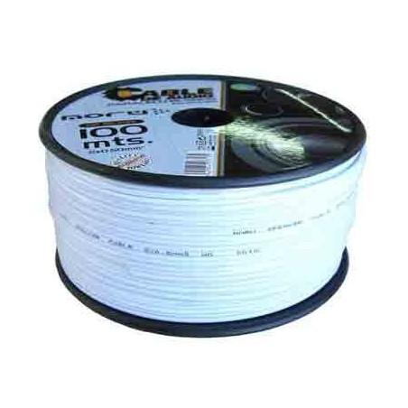 100 Metros de cable flexible paralelo blanco