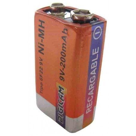 Batería recargable de 9V.