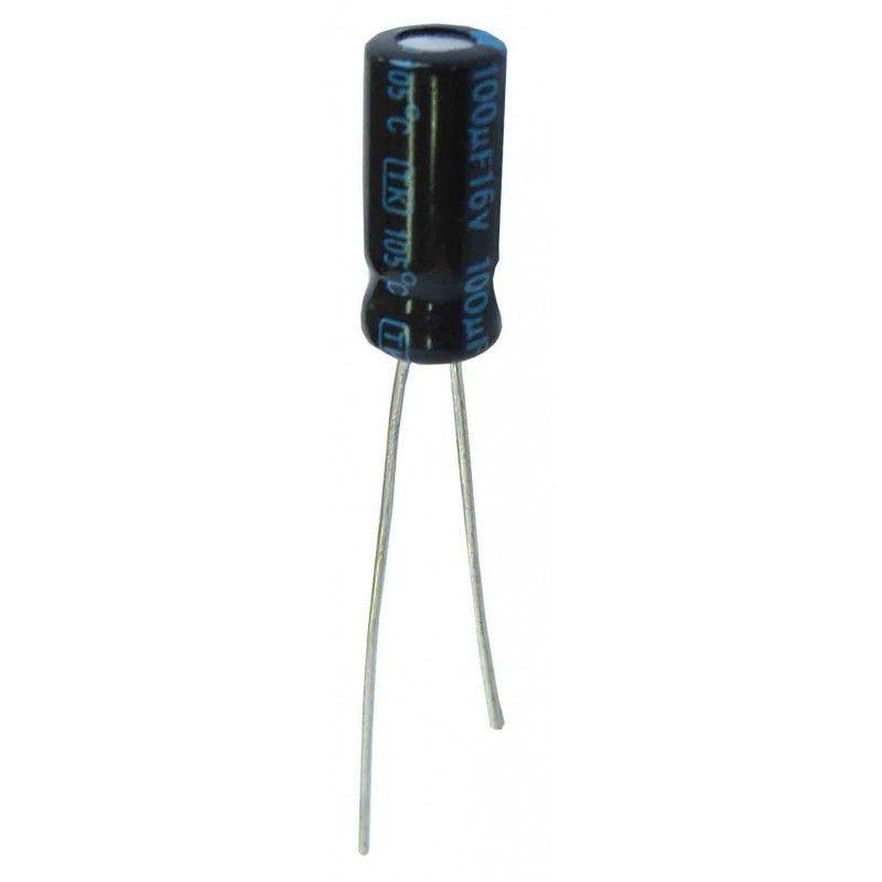 Condensadores electrolíticos 100 microfaradios, 16V