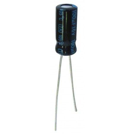 10 Condensadores electrolíticos 100 microfaradios, 16V