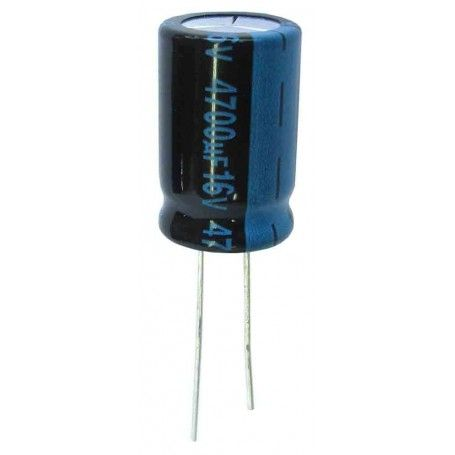 Condensador electrolítico 4.700 microfaradios, 16V