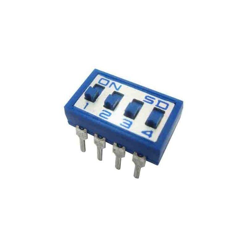 Microinterruptor de 4 bits para circuito impreso