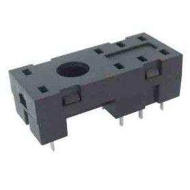 Zócalo para relé de 2 circuitos