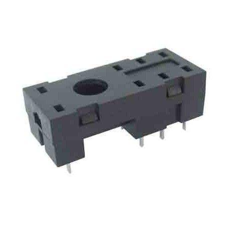 Zócalo para relé de 2 circuitos de conmutación