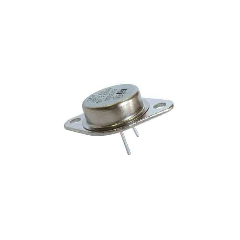 Transistor NPN 2N3055 de potencia, en TO3