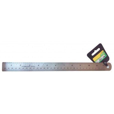 Regla metálica 30 cm.