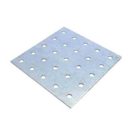 Cuadrado aluminio 25 perforaciones