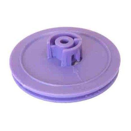 Polea de plástico D útil 46 mm. ejes 4 mm.