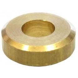 Casquillo de latón, sin tornillo, ejes 4 mm.