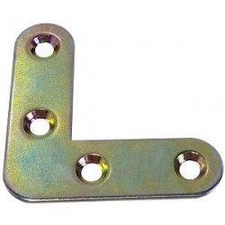 10 Pletinas 90º doradas de 4x4x1.2 cm M4